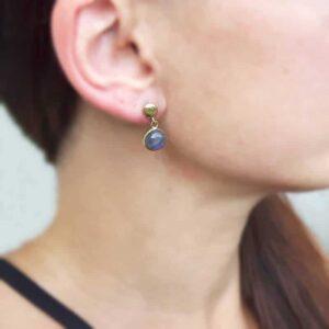 Boucles d'oreilles labradorite ELA