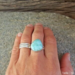 Turtle Larimar Ring