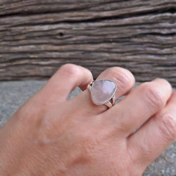 Bague quartz rose ZEN