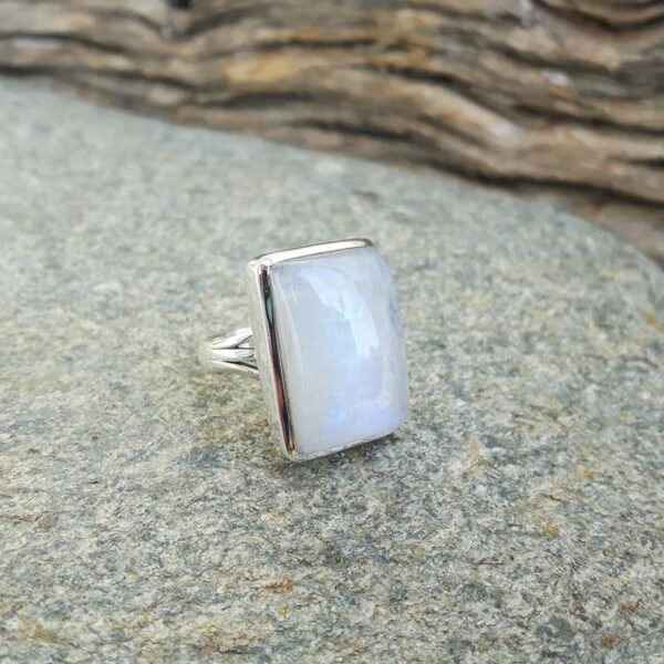 Moonstone designer ring