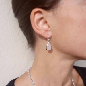 Boucles d'oreilles pierre de lune gouttes