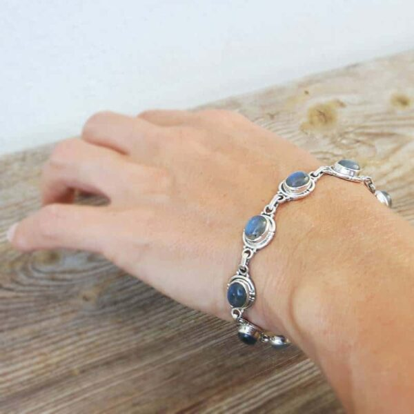 Bracelet labradorite argent réglable