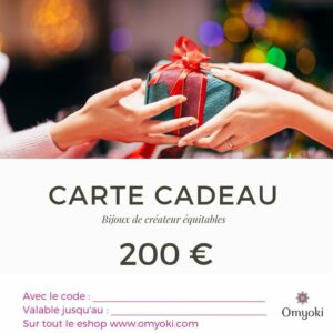 Gift card designer jewelry 200 €