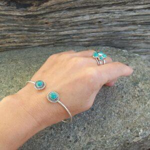 Jonc turquoise MARGUERITES