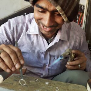 Indian jewelry craftsman