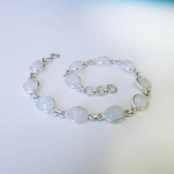 Bracelet en pierre de lune naturelle