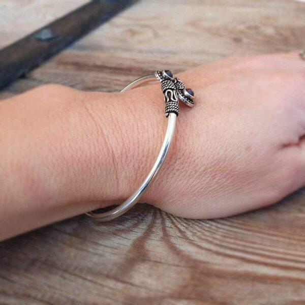 Bracelet grenat en argent SITA