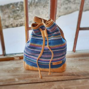 Fairy bucket bag MAYA donkerblauw