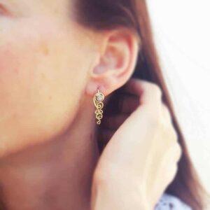 Boucles d'oreilles BOHÈME en pierre de lune