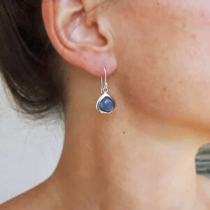 Labradorite drops earrings