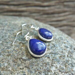 Boucles d'oreilles lapis lazuli argent