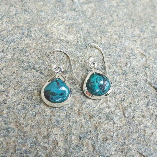 Boucles d'oreilles turquoise gouttes