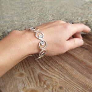 Bracelet de créateur en argent