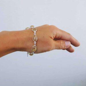 Goldenes Rutilquarz-Armband