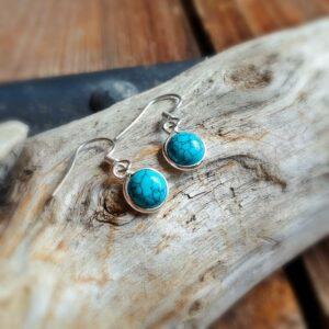 Petites boucles d'oreilles turquoise