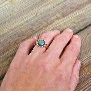 MARIE-ANTOINETTE fine golden labradorite ring