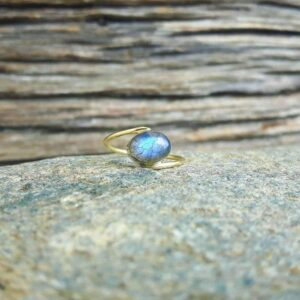 Bague labradorite or JANIS