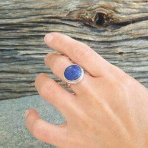 Bague lapis lazuli AMAYA