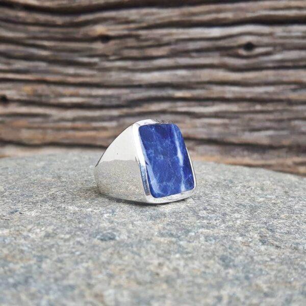 Bague lapis lazuli carré LILI