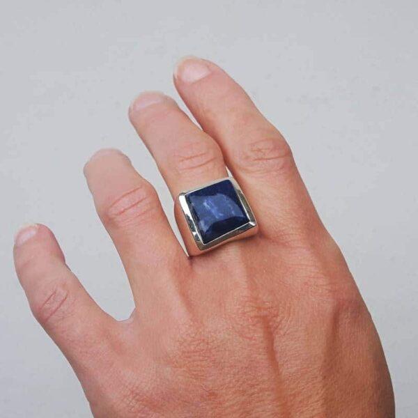 Bague lapis lazuli carré MIKI