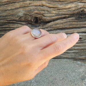 Bague quartz rose AMAYA