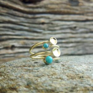 Turquoise ring mini pastilles