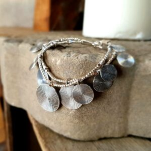 Ethnisches Silberarmband