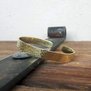 Bracelet hammered fine end LÔ