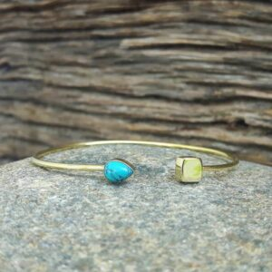 Turquoise open bangle
