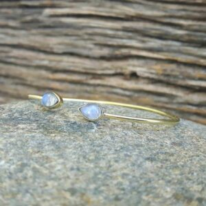 Moonstone Bangle Drops