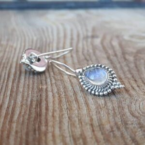 Ethnic moonstone earrings