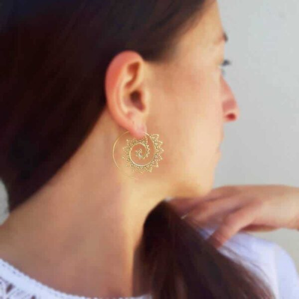 Boucles d'oreilles spirales SOLEIL