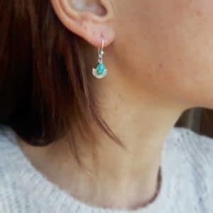 Boucles d'oreilles turquoise bohochic