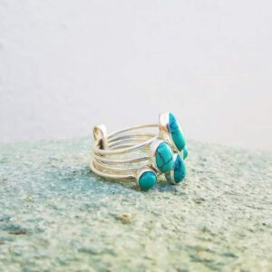 Ring rings multiple turquoise