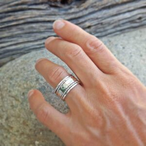 KARMA silver meditation ring