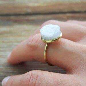 EVA natural moonstone ring