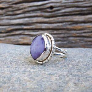 Anello in argento rubino indiano regolabile