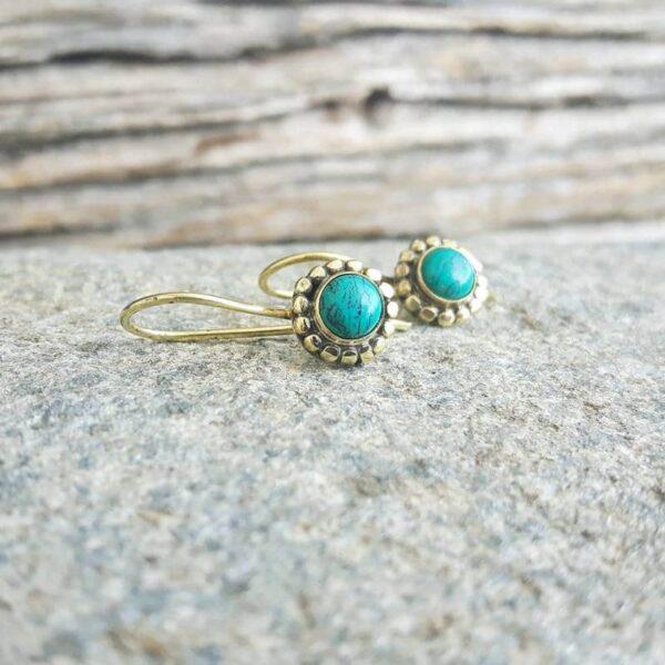 Boucles d'oreilles FLOWER turquoise