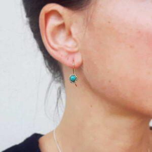 FLOWER turquoise earrings