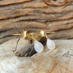 Boucles d'oreilles pierres de lune naturelles EVA