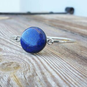 Bracelet lapis lazuli argent HARMONIE