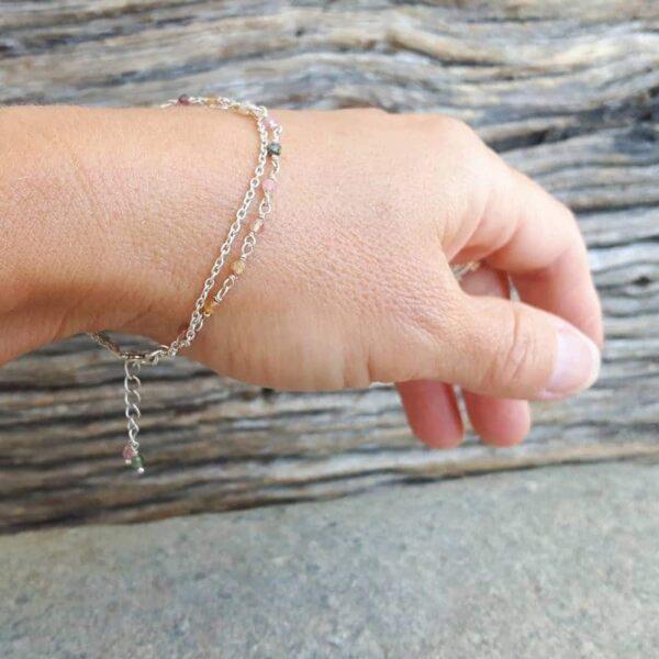 Bracelet tourmaline argent FLEUR DE VIE