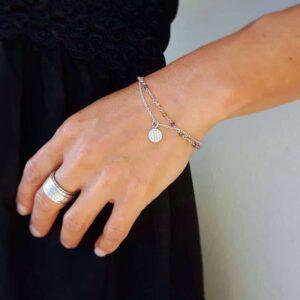 Silber Turmalin Armband FLEUR DE VIE