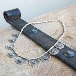 Ethnic necklace in sterling silver