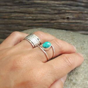 Fine ring in turquoise