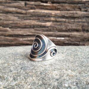 SPIRALE verstellbarer Silberring
