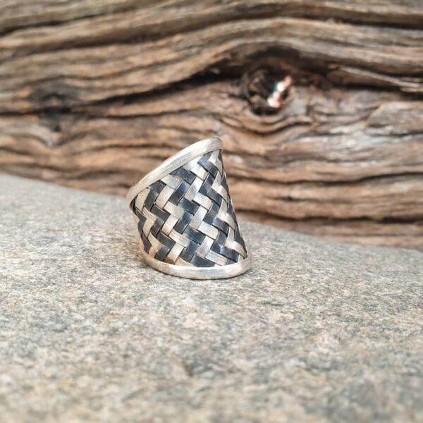 KAREN geflochtener Silberring
