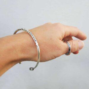 ETNIK zilveren armband