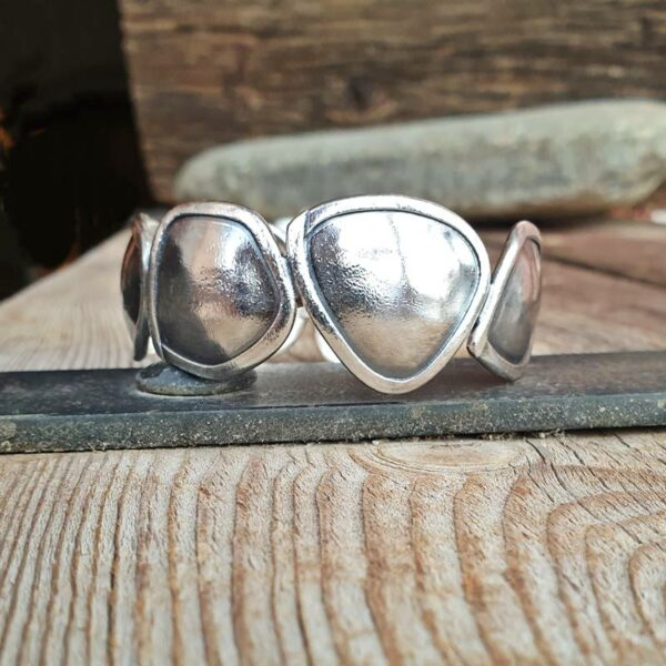Silbernes Designer-Armband