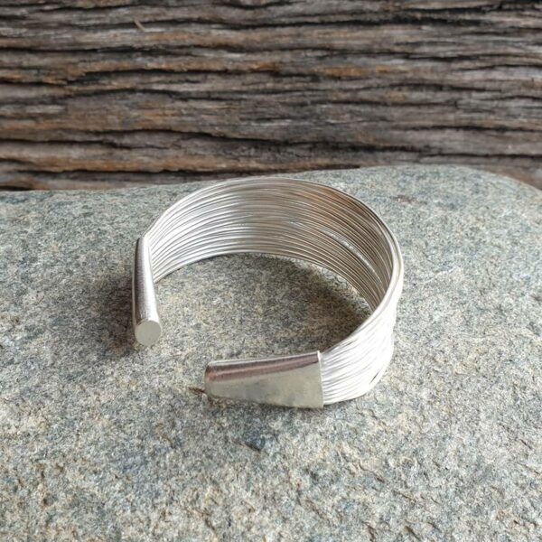 Silver multiple bangle bracelet